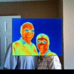 Thermal Image of Dan and Mary