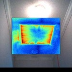 Thermal Image of Attic Access Panel