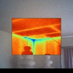 Thermal Image of Wall and Ceiling