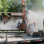 Geothermal Drilling Rig and Dust
