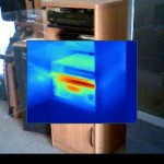 Thermal Image of Tivo and Stereo