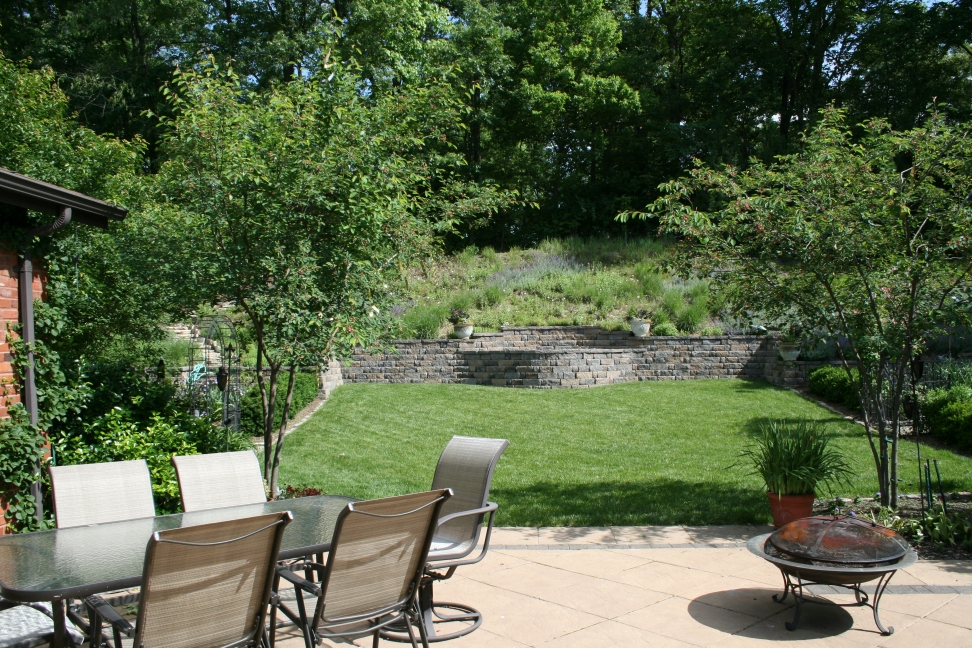 The Backyard Layout is very Formal...which ties together the whole design.