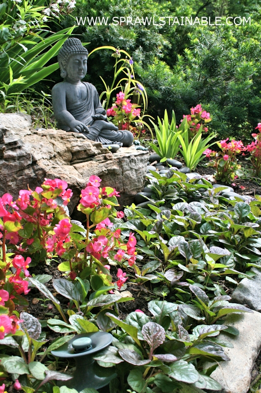 A place in the garden for meditation and relaxation
